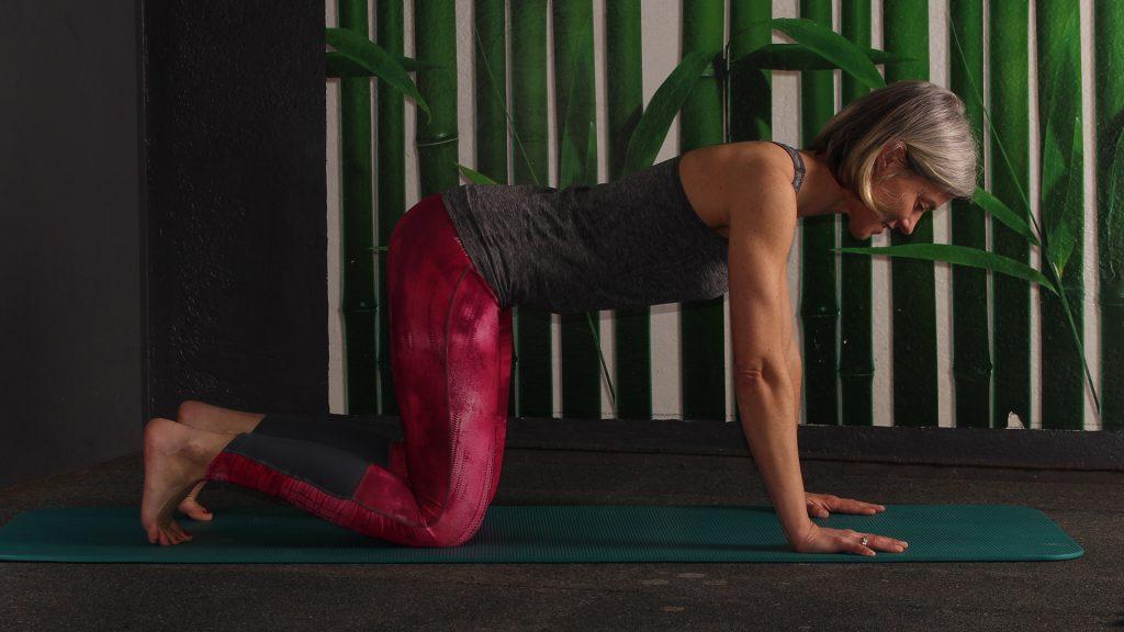 Ausgangsposition 4füßlerstand, Übung gegen Rückenschmerzen