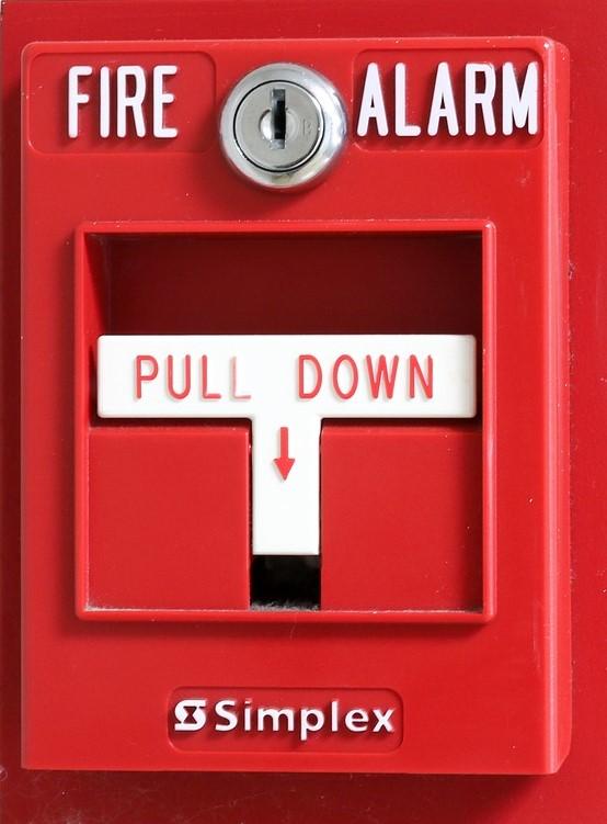 Rotes Feueralarm Kastl